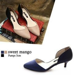 SWEET MANGO - Open-Side Kitten-Heel Pumps