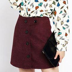 Sugar Town - Button A-Line Skirt