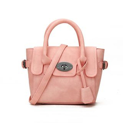 LineShow - Faux Leather Flap Hand Bag