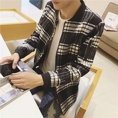 Bay Go Mall - Plaid Zip Jacket