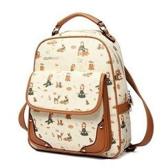 Princess Carousel - Print Flap Backpack
