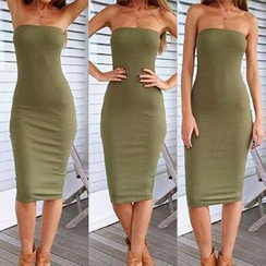 Eloqueen - Strapless Sheath Dress