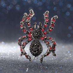 Trend Cool - Rhinestone Spider Brooch