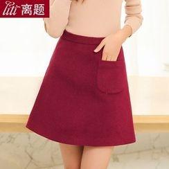 LITI - A-line Wool Skirt