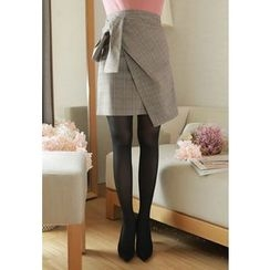 MyFiona - Tie-Waist Plaid Skirt