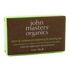 John Masters Organics - Birch and; Cedarwood Cleansing and; Shaving Bar