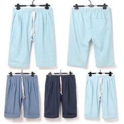 Aozora - Drawstring Cuffed Shorts