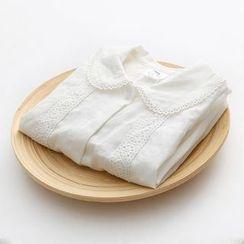 贝壳童装 - 儿童钩织拼接长袖衬衫