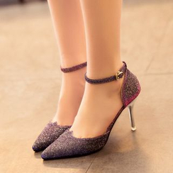 Wello - Ankle Strap Pointy Heels