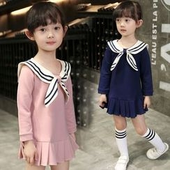 Merry Go Round - Kids Sailor Collar Long-Sleeve Dress