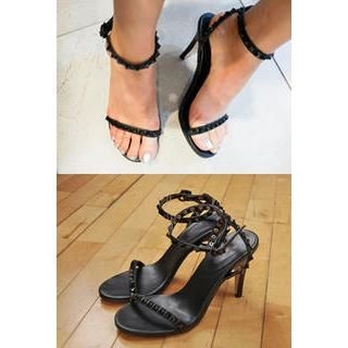 IMvely - Studded Ankle-Strap Sandals