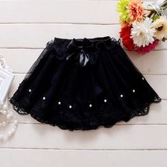 Youtale - Kids Embellished Lace Trim A-Line Skirt