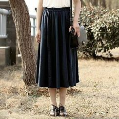 Fashion Street - Elastic-waist Long Skirt