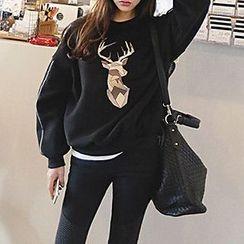 Tulander - Deer Print Pullover