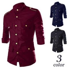 Bay Go Mall - 3/4-Sleeve Military Shirt