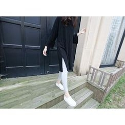 MARSHMALLOW - Slit-Side T-Shirt Dress