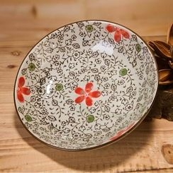 Time4Tea - Floral Print Ceramic Plate