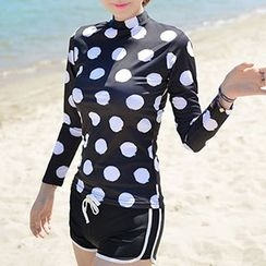 DJ Design - Set: Polka Dot Rashguard + Swim Shorts