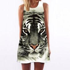 Flobo - Sleeveless Printed Dress