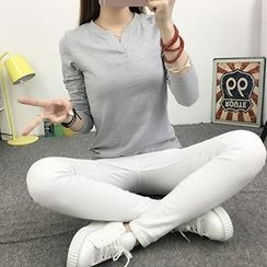 Soulpin - Long-Sleeve V-Neck T-Shirt