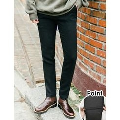 STYLEMAN - Flat-Front Fleece-Lined Pants