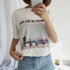 Cerauno - Print Short-Sleeve T-Shirt