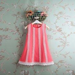 Kidora - 小童无袖钩织边连衣裙