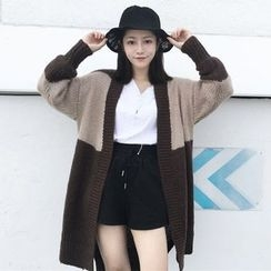 OCTALE - Color Block Long Cardigan