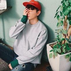 MEOSIDDA - Contrast-Cuff Sweatshirt