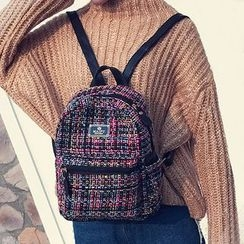 Clair Fashion - Plaid Backpack