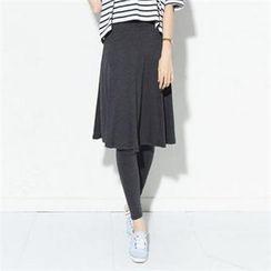 Zsel - Inset Midi Skirt Leggings
