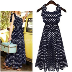 Coronini - Dotted Sleeveless Chiffon Dress