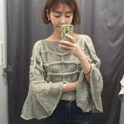 MATO - Chunky Knit 3/4 Sleeve Sweater