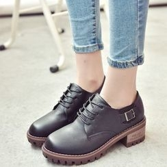 Wello - Block Heel Oxfords