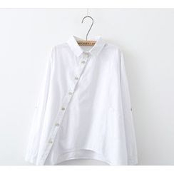 Aigan - Button-Front Blouse