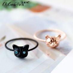 Aokuna - Cat Embellished Ring