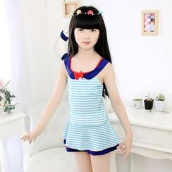 Aqua Wave - Kids Printed Bow Swimdress