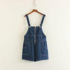 三木社 - 牛仔背带短裤