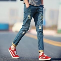 Masowild - Distressed Washed Jeans