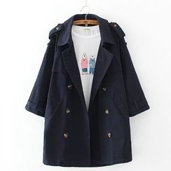 Citree - Double-Breasted Trench Coat