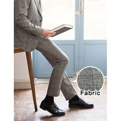 STYLEMAN - Flat-Front Check Dress Pants