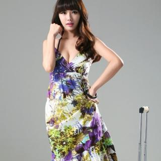 Floral Print Maxi Sundress