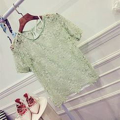 Octavia - Short-Sleeve Lace Top