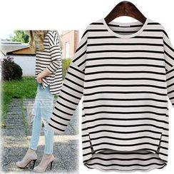 Coronini - 3/4-Sleeve Striped T-Shirt