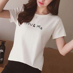 小谷粒 - 字母短袖T恤