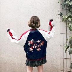 ever after - Embroidered Baseball Jacket