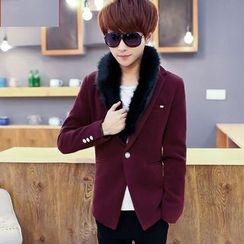 Fusuma - Furry Collar Blazer