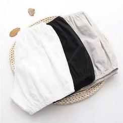 Moricode - 纯色灯笼打底短裤