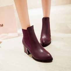 Pastel Pairs - Block Heel Ankle Boots