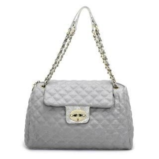 Twist-Lock Quilted Cross Bag